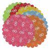 60-as Szülinapi Kerek Dekorációs Textil Vegyes Színekben - 48 cm-es, 12 db-os