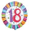 18 inch-es Radiant Birthday 18-as Születésnapi Héliumos Fólia Lufi