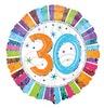 18 inch-es Radiant Birthday 30-as Születésnapi Héliumos Fólia Lufi
