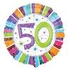 18 inch-es Radiant Birthday 50-es Születésnapi Héliumos Fólia Lufi