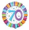18 inch-es Radiant Birthday 70-es Születésnapi Héliumos Fólia Lufi