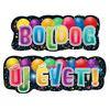 Boldog Új Évet! Feliratú Szilveszteri Banner - 135 cm x 28 cm