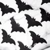 Denevér Formájú Fekete Szalvéta Halloween-re - 16 cm x 9 cm, 20 db-os
