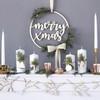 Fából Készült Merry Xmas Karácsonyi Dekoráció