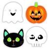 Halloween Karakterek Papír Maszk, 8 db-os