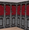 Gótikus Szobadíszlet - 6 m x 2,4 m