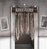 Koponyás Véres Ajtó Dekoráció, 143 cm-es