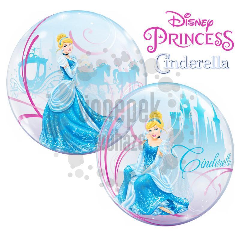 22 inch-es Disney Bubbles Cinderella - Hamupipőke Héliumos Lufi