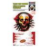 Creepy Carnival - Ijesztő Bohóc WC Dekoráció Halloween-re