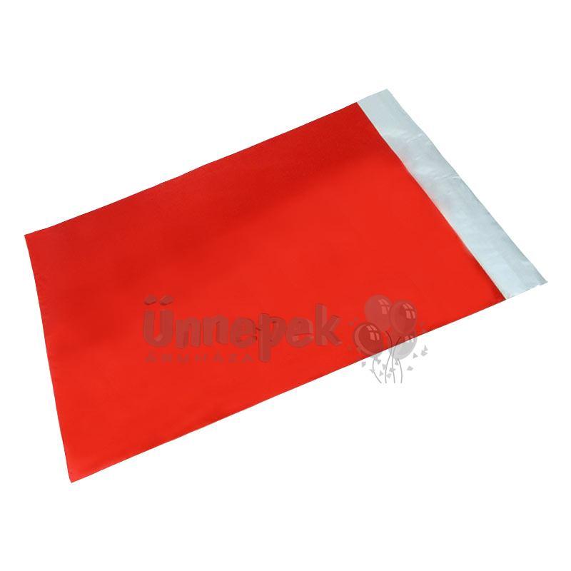 Lezárható Metál Fényes Piros Ajándéktasak - 25 cm x 40 cm, 1 db