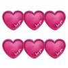 Love You Feliratú Rózsaszín Fényes Parti Tányér - 18 cm, 6 db-os