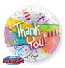 22 inch-es Thank You Streamers - Köszönettel Héliumos Bubble Lufi