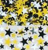 Arany, Ezüst és Fekete Csillagok Konfetti - 70 gramm