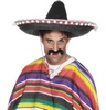 Fekete Sombrero Mexikói Parti Kalap