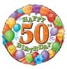 18 inch-es 50th Birthday Balloons - Léggömbös Szülinapi Számos Héliumos Fólia Lufi