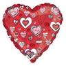 18 inch-es Love Message Red Szerelmes Héliumos Fólia Lufi