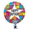 28 inch-es Happy Birthday Faces Szülinapi Éneklő Héliumos Fólia Lufi