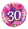 18 inch-es Rózsaszín - 30 Shining Star Hot Pink Szülinapi Számos Héliumos Fólia Lufi