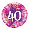 18 inch-es 40 Shining Star Hot Pink Szülinapi Számos Héliumos Fólia Lufi