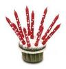 Piros Szives Gyertya - 8 cm, 10 db-os
