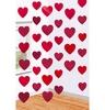 Szivek Szerelmes Függő Dekoráció - 2 méter, 6 db-os
