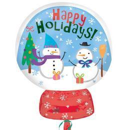 Snow Globe - Hógömb Karácsonyi Junior Shape Héliumos Fólia Lufi
