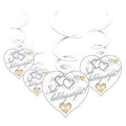 Sok Boldogságot Esküvői Spirális Dekoráció