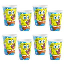 Spongyabob Kockanadrág - Spongebob Parti Pohár - 266 ml, 8 db-os