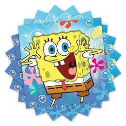 Spongyabob Kockanadrág - Spongebob Parti Szalvéta - 33 cm x 33 cm, 20 db-os