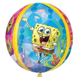 Spongebob Squarepants - Spongyabob Kockanadrág Ultra Shape Orbz Héliumos Fólia Lufi
