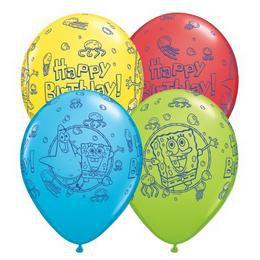 11 inch-es Spongebob Birthday Special Assortment Szülinapi Lufi (25 db/csomag)