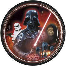 Star Wars and Heroes Parti Tányér - 23 cm, 8 db-os