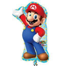 Super Mario Super Shape Héliumos Fólia Lufi