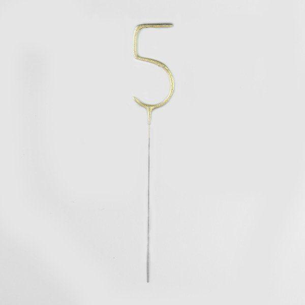 Szám Alakú Arany Csillagszóró - 5