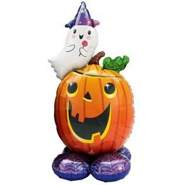 Szellem és Tök Levegős Lufi Halloweenre