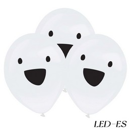 Szellem Mintás LED-es Lufi Halloween-ra