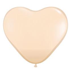6 inch-es Blush (Fashion) Szív Latex Lufi (100 db/csomag)