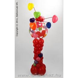 Colourful Hearts Szerelmes Lufi Dekoráció