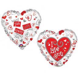 Love Feliratos Szerelmes Héliumos Fólia Lufi - 46 cm