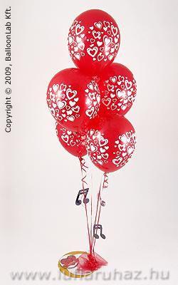 Swirl Hearts Szerelmes Lufi Dekoráció
