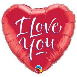 I Love You Feliratos Szerelmes Héliumos Fólia Lufi - 46 cm