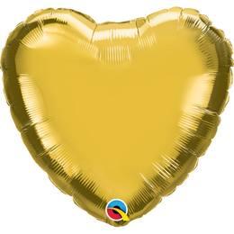18 inch-es Metallic Gold Gold Szív Héliumos Fólia Lufi