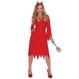 Szexi Piros Női Ördög Jelmez Halloweenre