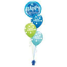 Szikrázó Kék Szülinap - Születésnapi léggömbcsokor