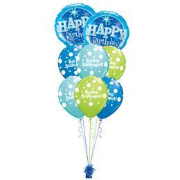 Szikrázó Kék Szülinap - Születésnapi prémium léggömbcsokor