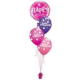 Szikrázó Pink Szülinap - Születésnapi léggömbcsokor