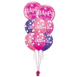 Szikrázó Pink Szülinap - Születésnapi prémium léggömbcsokor