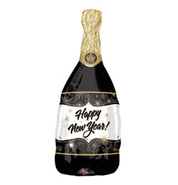 Pezsgősüveg - Champagne New Year - Super Shape Héliumos Fólia Lufi