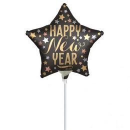 Satin New Year Szilveszteri Csillag Mini Shape Fólia Lufi