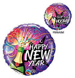 18 inch-es Pezsgősüveges - New Year Sip, Sip, Hooray Szilveszteri Héliumos Fólia Lufi